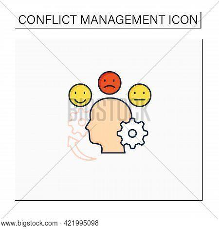 Managing Emotions Color Icon. Control Positive And Negative Emotions. Emotional Dysregulation. Burno