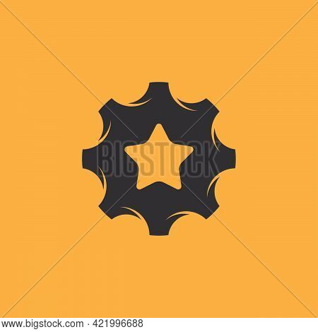 Star Gear Logo Designs Concept Vector, Bright Mechanic Logo Template, Best Repair Logo Symbol