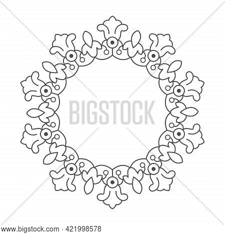 Floral Frame, Lace Pattern, Stamp Or Stencil For Scrapbooking And Decorative Embossing, Die Cut Temp