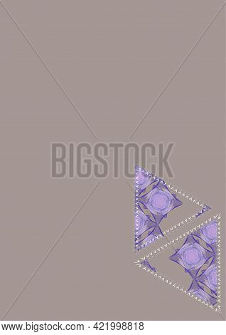 Triangular Figures, Made By The Author's Pattern And The Author's Brush, Resembling A Patchwork, On