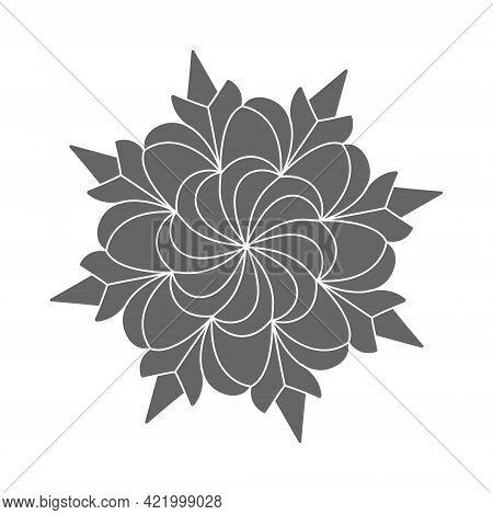 Silhouette Pattern Design In The Form Of A Flower, Scrapbooking, Impression, Stamp, Figure Carving A