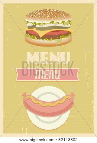 Retro menu set