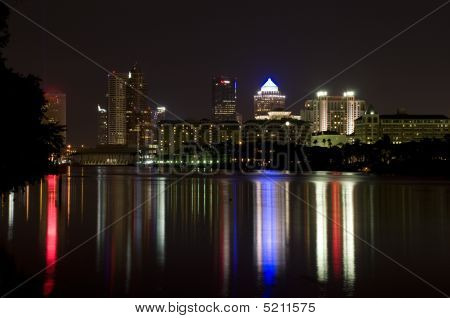 Tampa river night scene