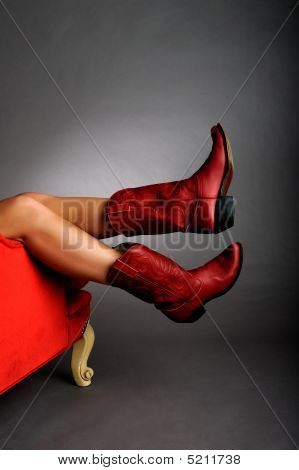 Legs Wearing Red Boots