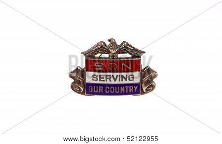 World War Two era son in service pin