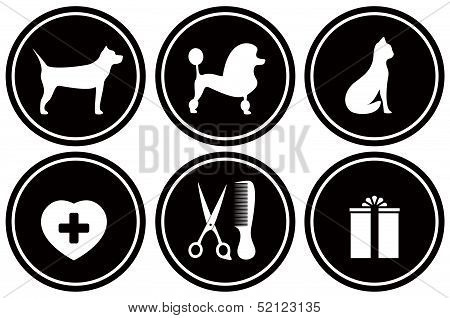 set black icons for pet objects