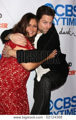 LOS ANGELES - OCT 8:  Michael Muhney, Angelica McDaniel at the CBS Daytime After Dark Event at Comedy Store on October 8, 2013 in West Hollywood, CA