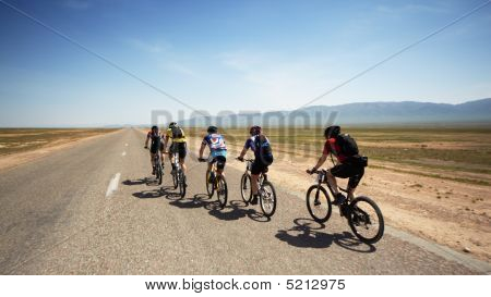 Adventure Mountain Bike Maranthon In Desert