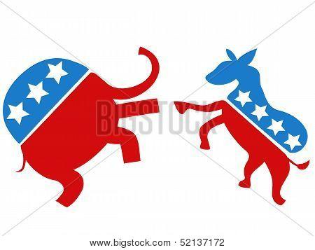 Election Fighter,the Democrat Vs Republican