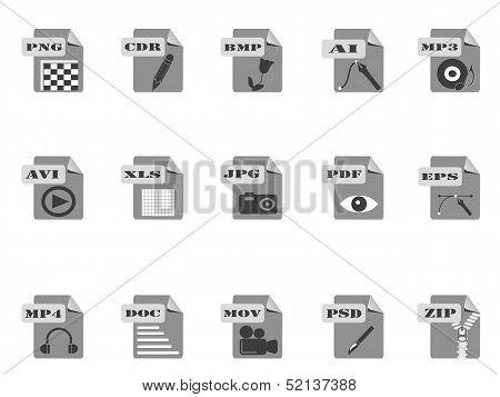 Gray Files Icon