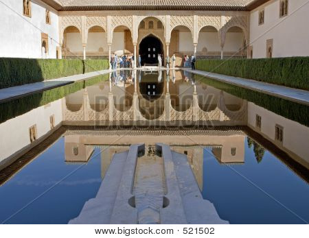 Ancient Tower In The Alhambra Palace In Spain