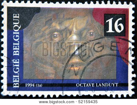 A stamp printed in Belgium shows the play