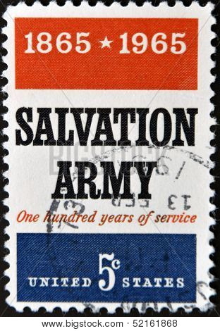 United States - Circa 1965: Stamp Printed By United States, Shows Salvation Army, Circa 1965