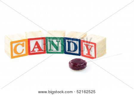 Baby Blocks Spelling Candy