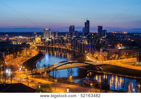 Beautiful golden Vilnius (Lithuania)