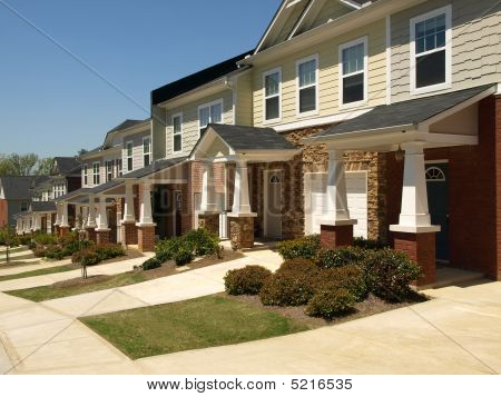 Row Of Small Townhouses