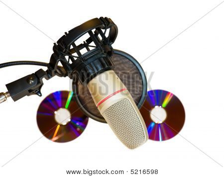 Recording Studio Microphone With Music Cds And C/path