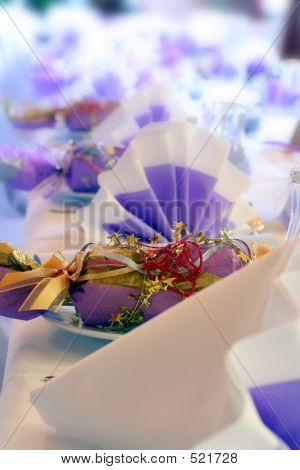 Birthday Or Wedding Setting And Cracker