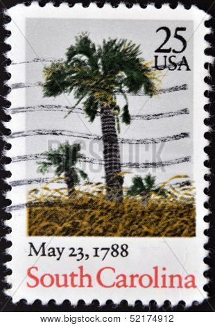 A Stamp Shows Image Dedicated To The May 23, 1788 - South Carolina ratifies the U. S. Constitution