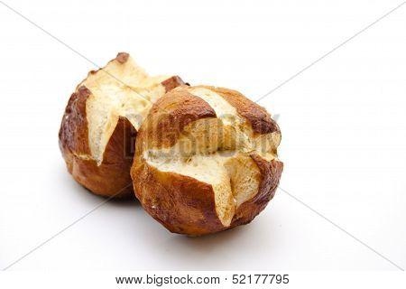 Fresh lyes bread roll
