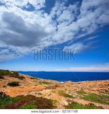 Ibiza Satorre in San Antonio Abad mediterranean view at Balearic islands