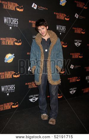 LOS ANGELES - OCT 10:  Devon Werkheiser at the 8th Annual LA Haunted Hayride Premiere Night at Griffith Park on October 10, 2013 in Los Angeles, CA
