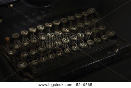 Keyboard Of Antique Typewriter