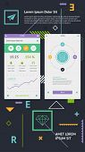 Flat Elements of Infographics poster