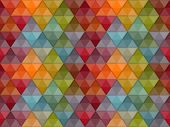 Vector Seamless hipster geometric pattern eps 10 transparency effects poster