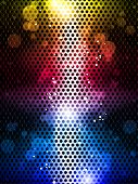 Vector - Colorful Rainbow Neon Party Background poster