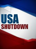 Vector - Shutdown Closed United States of America Background poster