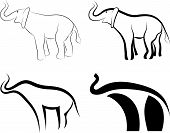 collection of elephants symbols. Welcome to my portfolio poster
