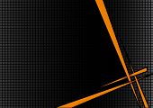 background black orange disco with spikes and boxes poster