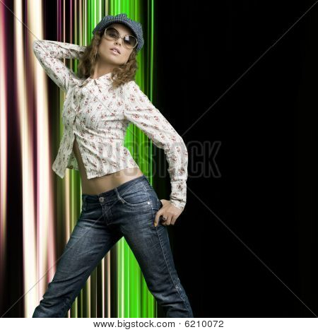 schöne Frau. Mode-Foto