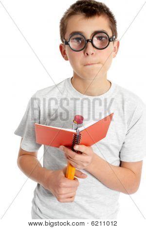 Goofy Boy With Glasses