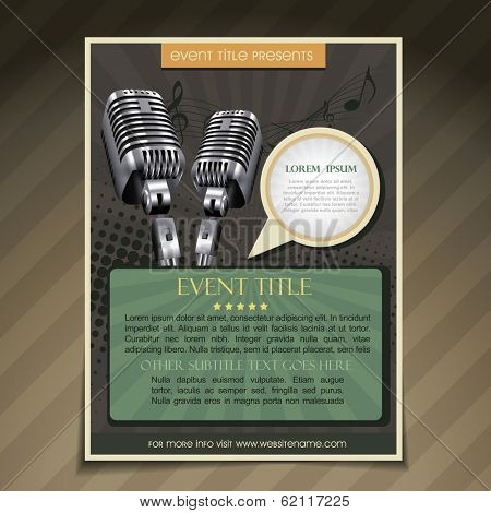 vector event  brochure flyer poster template  poster