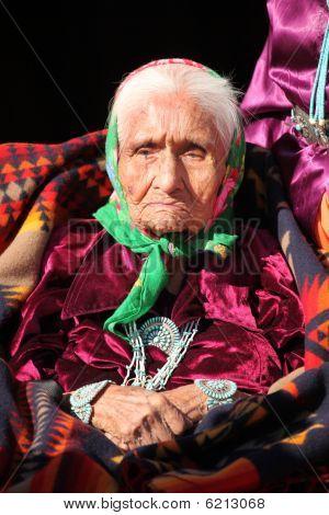Wise Navajo Elder Wearing Traditional Jewelry