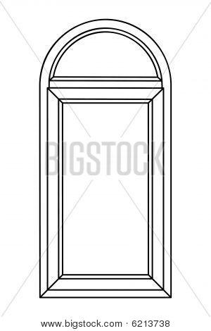 Planimetric Arch Window