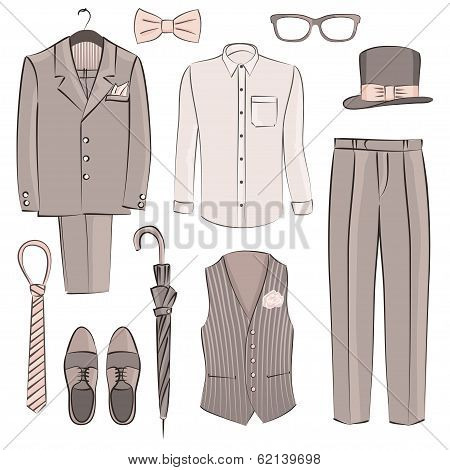 sketch Men's Clothing And Accessories Set