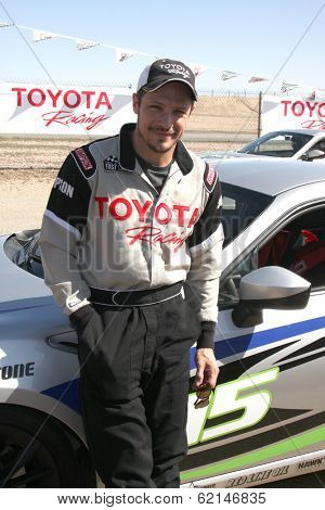 LOS ANGELES - MAR 15:  Nick Wechsler at the Toyota Grand Prix of Long Beach Pro-Celebrity Race Training at Willow Springs International Speedway on March 15, 2014 in Rosamond, CA
