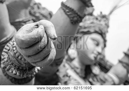 Goddess Durga Hand Fist Sculptures