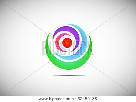 globe icon, web