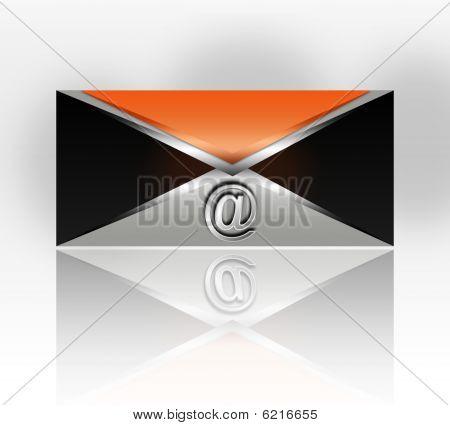 значок металла почты