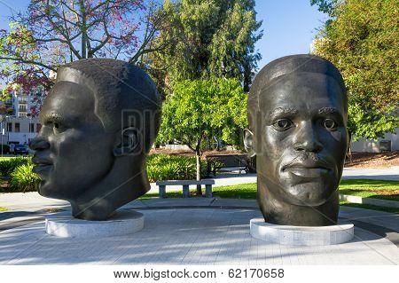Jackie And Mack Robinson Statue