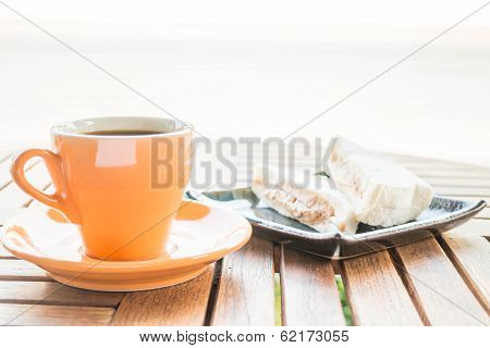 Breakfast Set Of Coffee And Sandwiches
