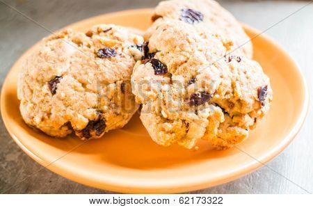 Cereal Crunch Cookies On The Plate