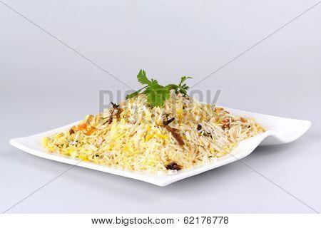 Indian food biryani rice or briyani rice, fresh cooked, indian dish