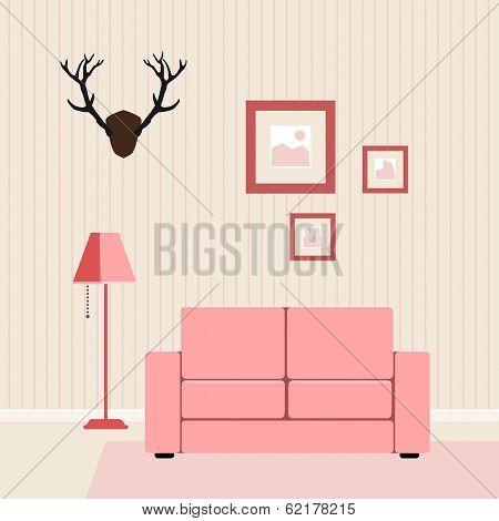 interior flat livingroom vector illustration??????