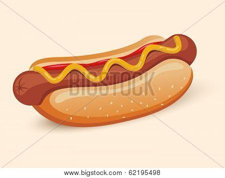 American hotdog sandwich