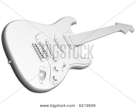 All White Guitar